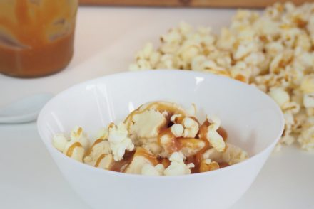 Vegan Caramel Popcorn Icecream