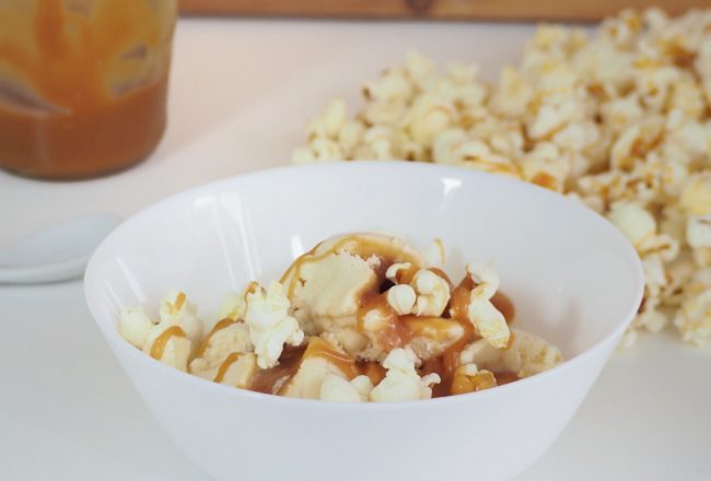 Vegan Caramel Popcorn Icecream